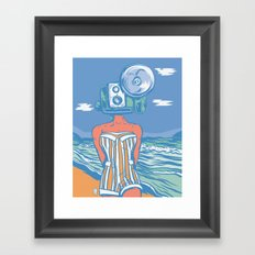 Greetings From The Beach Framed Art Print