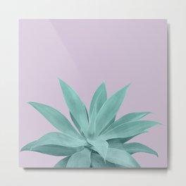 Lavender Green Agave Vibes #1 #tropical #decor #art #society6 Metal Print