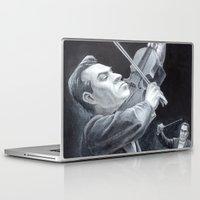 soviet Laptop & iPad Skins featuring A Soviet Violinist by Mark Schaeffer Studios