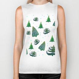 Christmas trees Biker Tank