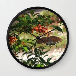 Butterfly andFirebush Wall Clock