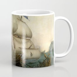 "Hendrick Cornelisz Vroom ""Dutch Ships Ramming Spanish Galleys off the Flemish Coast in October 1602"" Coffee Mug"