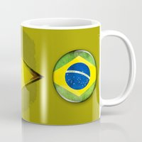 brasil Mugs featuring Brasil by ilustrarte