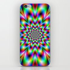 Neon Flower in Green Red and Blue iPhone & iPod Skin