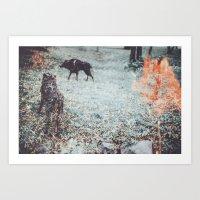 louis Art Prints featuring Louis by Lunakhods