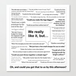Sh*t Clients Say Canvas Print