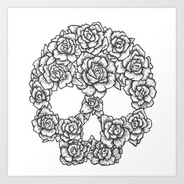 Skull of Roses Art Print