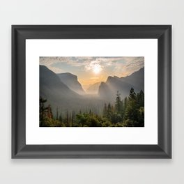Morning Yosemite Landscape Framed Art Print