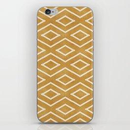 Stitch Diamond Tribal in Gold iPhone Skin