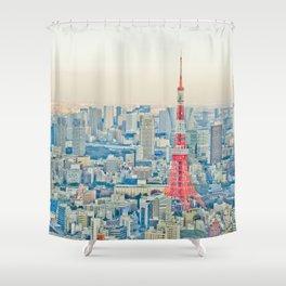 Tokyo tower Shower Curtain
