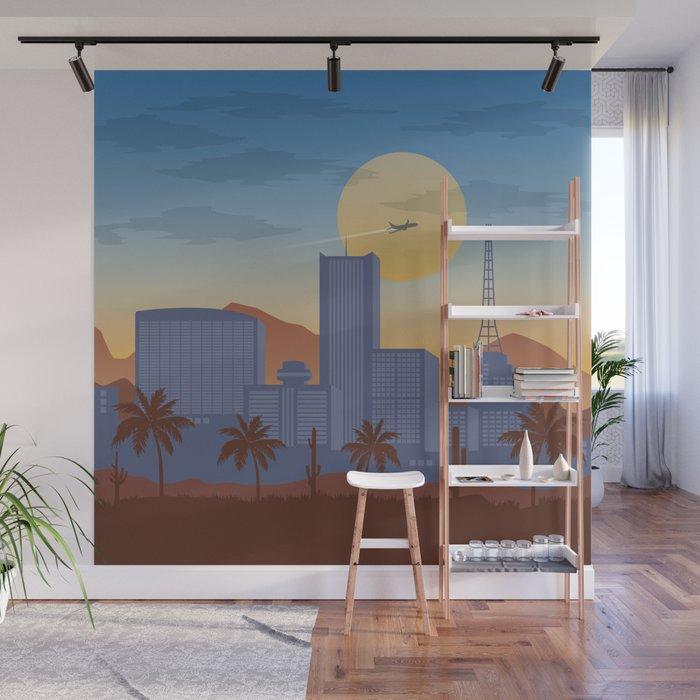 Phoenix Skyline Wall Mural