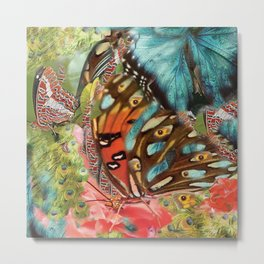 Butterfly in the garden Metal Print