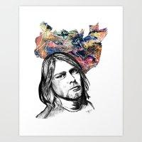 kurt rahn Art Prints featuring Kurt by GabriielleViictoriia