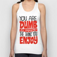 internet Tank Tops featuring Internet Comments by Chris Piascik