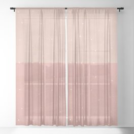 Plotting the dots in pink Sheer Curtain