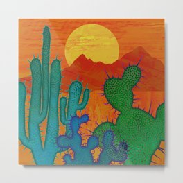 Desert Sun 2 Metal Print