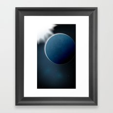 Cold planet Framed Art Print