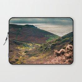 Cornish seascape, Landscape photography, Giclee print, Nautical wall decor, secret beach, Nanjizal Laptop Sleeve