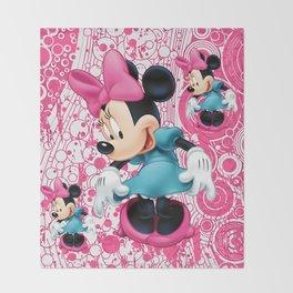 Minnie Mouse Cartoon Throw Blanket