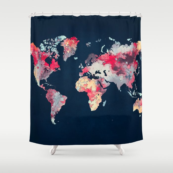 Map69.World Map 69 Shower Curtain