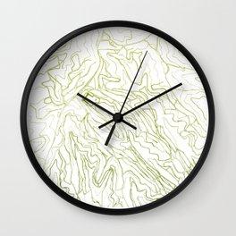 Secret places III - handmade green map Wall Clock