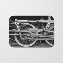 locomotive wheels Bath Mat