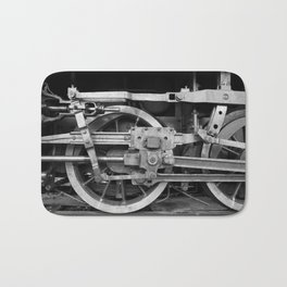 locomotive wheels Bath Mat