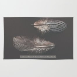 feathers appear when angels are near Rug