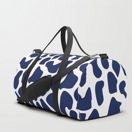 Blue dalmatian pattern Duffle Bag