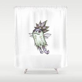 Moon Flea Shower Curtain