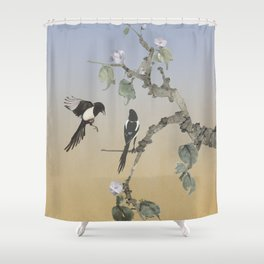 Magpies Shower Curtain