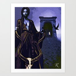 Lady of Duration : 5th Gate Art Print