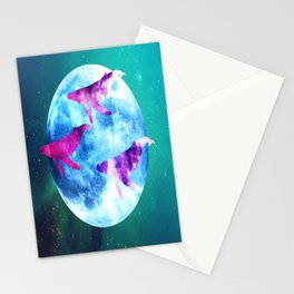 NOCTURNE : ASTRAL WHALES Stationery Cards