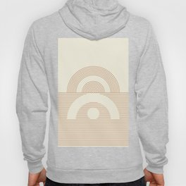 Geometric lines in Neutral Colors 12 (Sunrise and Sunset) Hoody