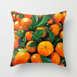 oranges from the grocery store Throw Pillow