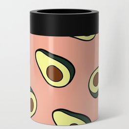 Avocado Pattern in Pink Can Cooler