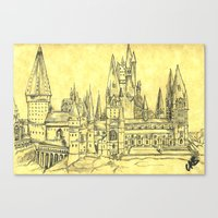 hogwarts Canvas Prints featuring Hogwarts by Christina Brunnock