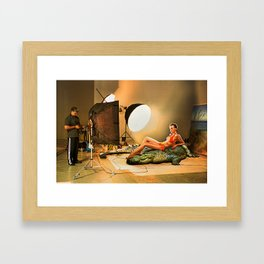 Dangerous photoshoot Framed Art Print