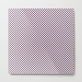 Wild Berry Polka Dots Metal Print