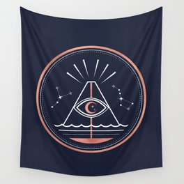 Iddu or Volcan Stromboli Wall Tapestry