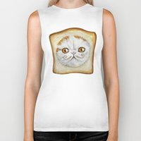 snoopy Biker Tanks featuring Snoopy aka Breadcat - Cats with Moustaches by Megan Mars