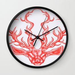 stag (white background) Wall Clock