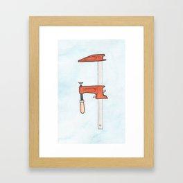Bar Clamp Watercolor Framed Art Print