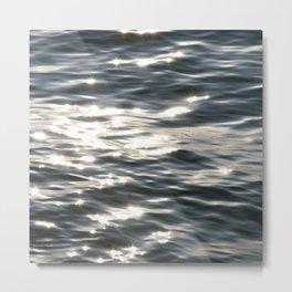 Blue Sea Sparkle | Photography Landscape Metal Print
