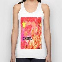 china Tank Tops featuring China by Brian Raggatt