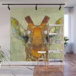 abstract giraffe calf Wall Mural