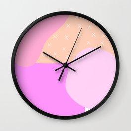 Scandi Abstract Pinks Wall Clock