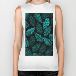 Green Leaves Biker Tank