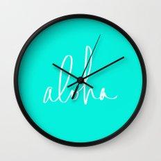 Aloha Tropical Turquoise Wall Clock