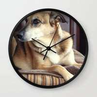 copper Wall Clocks featuring Copper by Irène Sneddon
